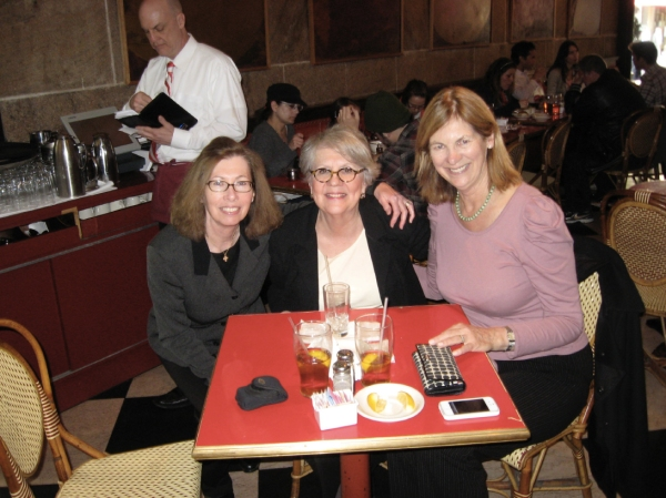 Cortney Davis, Judy Shaefer and Muriel Murch sort it all out after lunch.