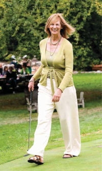 Muriel on the golf course