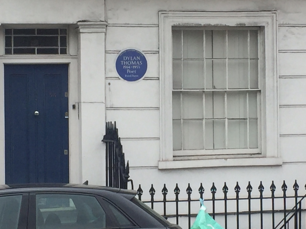 Blue plaque for Dylan Thomas